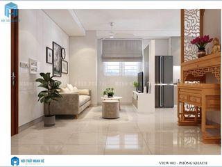 Thiết kế nội thất trọn gói căn hộ cao cấp chung cư Belleza - 75m2 (chị Hương - quận 7) Công ty Cổ Phần Nội Thất Mạnh Hệ Phòng khách
