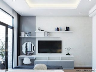 Thiết kế nội thất trọn gói nhà phố 3 thế hệ - 3 phòng ngủ (Anh Tuyền - Q.12) Công ty Cổ Phần Nội Thất Mạnh Hệ Phòng ngủ phong cách hiện đại