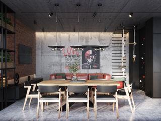 зона барбекю ЖК Apartville Y.F.architects Кухня в стиле лофт
