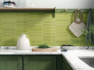 Equipe Ceramicas Cocinas de estilo moderno Azulejos Verde