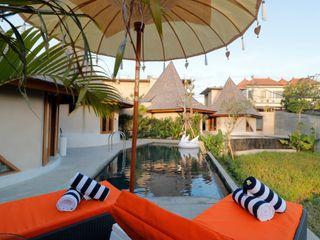 WaB - Wimba anenggata architects Bali Hoteles de estilo ecléctico Concreto Multicolor