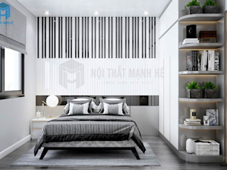 THIẾT KẾ NỘI THẤT PHÒNG NGỦ ĐỘC ĐÁO LẤY Ý TƯỞNG TỪ CÂY ĐÀN PIANO - ANH KHOA, Q.7 Công ty Cổ Phần Nội Thất Mạnh Hệ Phòng ngủ nhỏ Gỗ White