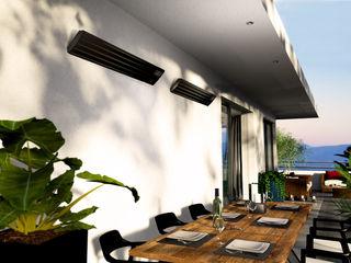 muenkel design - Elektrokamine aus Großentaft Balcones y terrazasAccesorios y decoración
