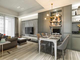 2房打造高機能 精緻收納美式新古典小宅 你你空間設計 餐廳 塑木複合材料 Green