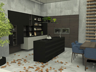 Abra as portas de sua casa ao estilo moderno! Casactiva Interiores Cozinhas pequenas Acabamento em madeira