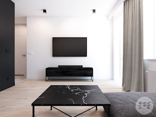 365 Stopni Salon minimaliste Blanc