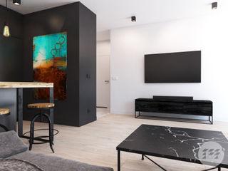 365 Stopni Salon minimaliste Noir