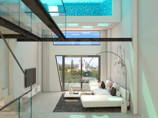 Barreres del Mundo Architects. Arquitectos e interioristas en Valencia. Moderne Wohnzimmer Weiß