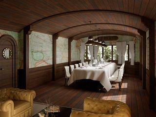 Diseño de interior temático para comedor de restaurante Tono Lledó Estudio de Interiorismo en Alicante Gastronomía de estilo clásico Madera Marrón
