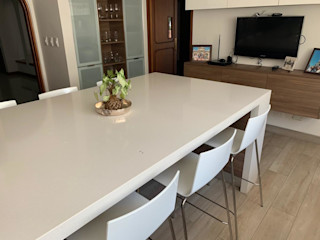THE muebles KitchenTables & chairs Bahan Sintetis White