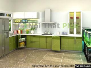 Thiết kế thi công tủ bếp gỗ công nghiệp cho nhà anh Nhân ở Bình Dương Công ty thiết kế thi công nội thất - NỘI THẤT PLUS BureauArmoires & étagères Ardoise Blanc