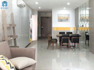 Thi công hoàn thiện nội thất căn hộ chung cư Hà Đô Centrosa Garden 77m2 có 2 phòng ngủ - anh Hải, Quận 10 Công ty Cổ Phần Nội Thất Mạnh Hệ Phòng ăn phong cách hiện đại Gỗ thiết kế Wood effect