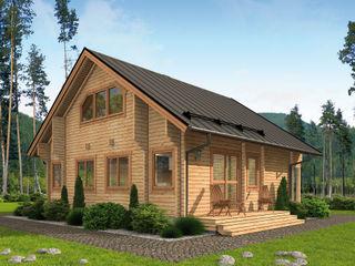 THULE Blockhaus GmbH - Ihr Fertigbausatz für ein Holzhaus Log cabin Wood Brown