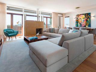 Premium Air BnB Filipa Cunha Interiores Sala de estarSofás e divãs Bege