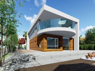 DYOV STUDIO Arquitectura, Concepto Passivhaus Mediterraneo 653 77 38 06 빌라 우드 화이트