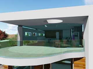 DYOV STUDIO Arquitectura, Concepto Passivhaus Mediterraneo 653 77 38 06 일세대용 주택 우드 화이트