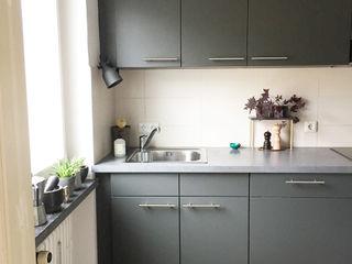 KANOS Design Cocinas modernas Compuestos de madera y plástico Gris