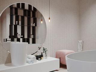 софиевская борщаговка дизайн студия А Гординского Minimalist style bathroom Ceramic Multicolored