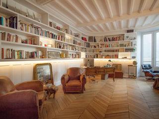 Modernisation d'un appartement haussmannien 250 m2 Créateurs d'Interieur Bureau original Bois