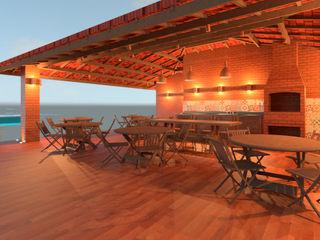 Elaine Hormann Architecture Mediterranean style wine cellar Bricks Beige