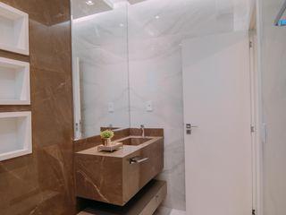 ISADORA MARTEL interiores Minimalist style bathroom Ceramic White