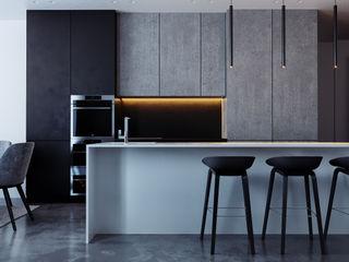 комфорт сити дизайн студия А Гординского Built-in kitchens Multicolored