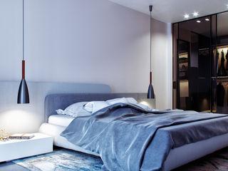 комфорт сити дизайн студия А Гординского Small bedroom Wood-Plastic Composite Multicolored