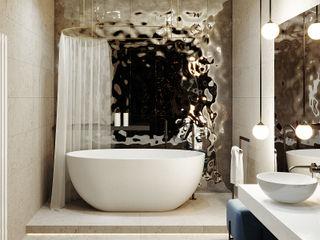 комфорт сити дизайн студия А Гординского Minimalist style bathroom Wood-Plastic Composite Multicolored