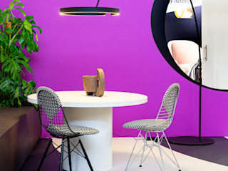 Pure & Original Eclectic style dining room Iron/Steel Purple/Violet