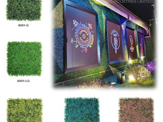 Artificial Greenery Wall For Indoor & Outdoor Landscape Sunwing Industries Ltd Commercial Spaces Plastic Green
