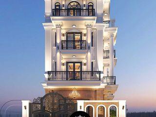 Mẫu thiết kế biệt thự 5 tầng tân cổ điển đẹp tại Tphcm NEOHouse