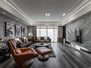 大量採光 讓晝夜有不一樣感受 你你空間設計 现代客厅設計點子、靈感 & 圖片