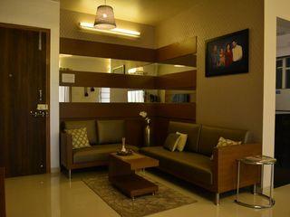 Olive Interiors 客廳沙發與扶手椅 皮革 Brown