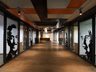 Boutique de Arquitectura ¨Querétaro [Sonotectura+Refaccionaria] Modern style study/office Chipboard Wood effect