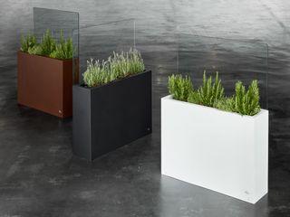 Hobby Flower Garden Plant pots & vases Iron/Steel White