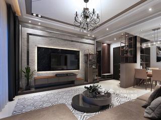 仁山洺悅 木博士團隊/動念室內設計制作 现代客厅設計點子、靈感 & 圖片