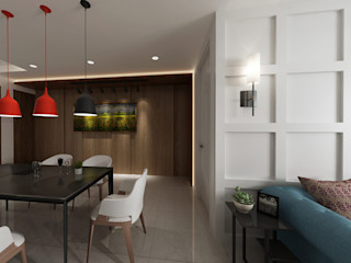 設計反轉格局 時尚簡約氣息 雅和室內設計 餐廳