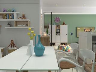 簡約北歐 親子宅 傾瀉一抹慵懶 親子溫馨好時光 雅和室內設計 餐廳