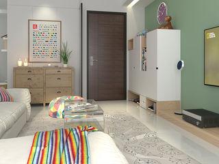 簡約北歐 親子宅 傾瀉一抹慵懶 親子溫馨好時光 雅和室內設計 斯堪的納維亞風格的走廊,走廊和樓梯