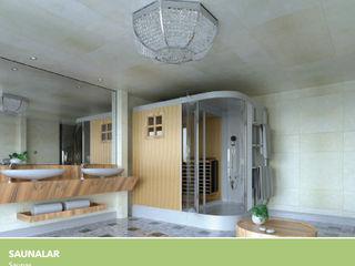 Çalık Konsept Mimarlık BañosBañeras y duchas Madera Acabado en madera