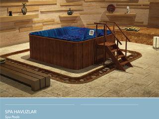Çalık Konsept Mimarlık SpaAccesorios para piscinas y spa Acabado en madera