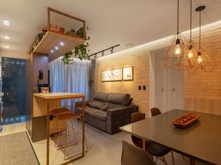 Cassiana Rubin Arquitetura Industrial style living room