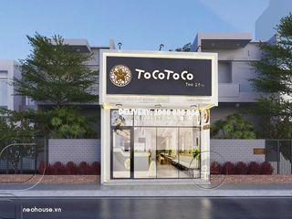 Thiết kế thi công nội thất quán trà sữa Tocotoco tại tphcm NEOHouse