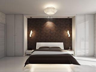 """Проект спальни """"Шоколадная симфония"""" Технологии дизайна Спальня в стиле модерн Бежевый"""