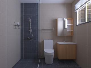 Swish Design Works Baños de estilo minimalista Azulejos Multicolor