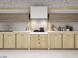 Cucina moderna in rovere massello Mobili a Colori Cucina attrezzata Legno massello Effetto legno