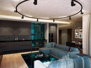 Квартиры студии Технологии дизайна Гостиная в стиле лофт Бежевый