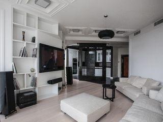 Двухкомнатные квартиры Технологии дизайна Гостиная в скандинавском стиле Белый