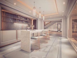 Minimalist Style Kitchen Interior IONS DESIGN Built-in kitchens Wood Grey