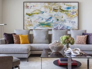 Tullpu Diseño & Arquitectura Ruang Keluarga Modern Grey
